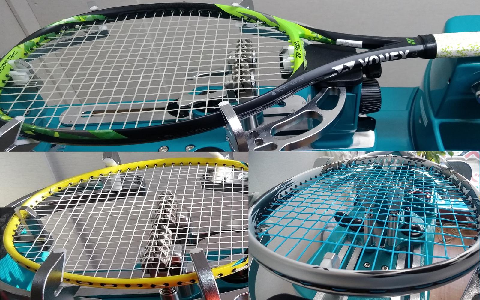 ラパンブランでは、テニス・ソフトテニス・バドミントンのガット張り替えを行っております